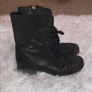 Steven Madden leather combat boots